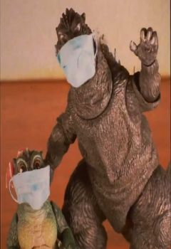 Godzilla says: WEAR YOUR MASK!!!!!